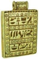 Limestone Pendant with Hieroglyphic