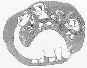 hippopotamus head drawing